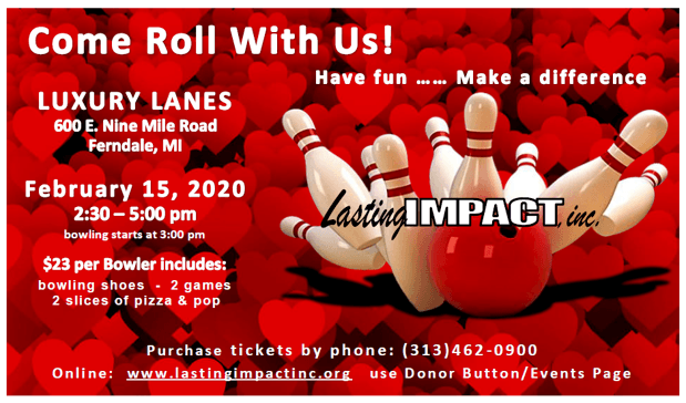 bowling event poster